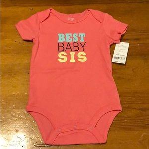 "Carter's ""Best Baby Sis"" Onesie"